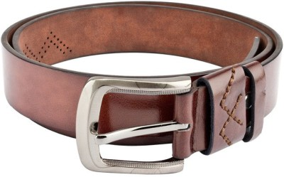 Swiss Design Men Casual Brown Genuine Leather Belt