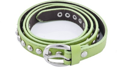 DEWY Women Casual Green Artificial Leather Belt