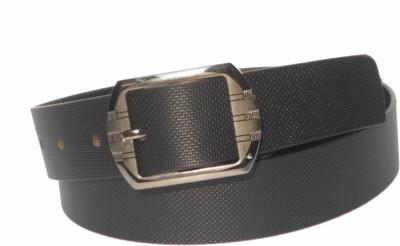 Rocket Market Men Casual Black Genuine Leather Belt