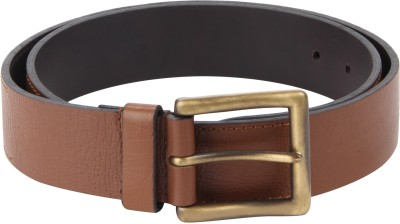 Kaizu Men Casual Tan Genuine Leather Belt