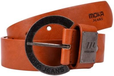 MOKA Men Formal Brown Artificial Leather Belt