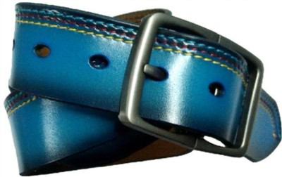 Longhorns Men Casual Blue Genuine Leather Belt