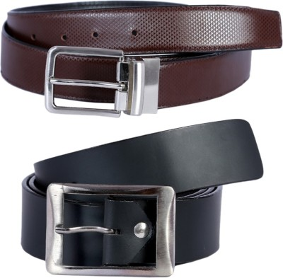 Kritika Men Multicolor Genuine Leather Reversible Belt