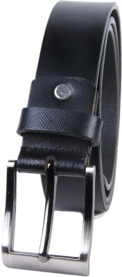 KRG ENTERPRISES Men Formal Black Genuine Leather Belt