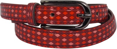 Ekora Girls Casual Red Artificial Leather Belt