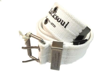 Blacksoul Men Casual White Synthetic Belt