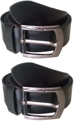 KRG ENTERPRISES Men Casual Black Genuine Leather Belt