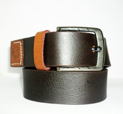 Hevan Men Brown Genuine Leather Belt