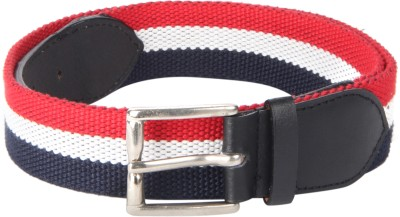 Kaizu Men Casual Multicolor Canvas, Genuine Leather Belt