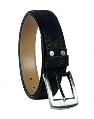 Revo Men Formal Black Genuine Leather Belt