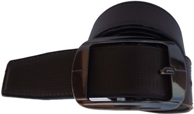 P&E Men Formal Brown Artificial Leather Reversible Belt