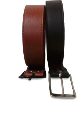 VICTORIA SECRET INDIA Men Casual Brown, Black Artificial Leather Belt