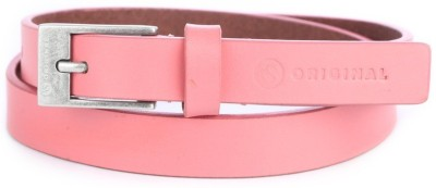 American Swan Women Casual Pink Artificial Leather Belt