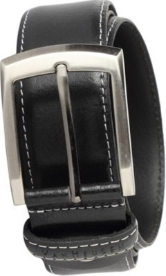 RK IMPORT Men Black Genuine Leather Belt