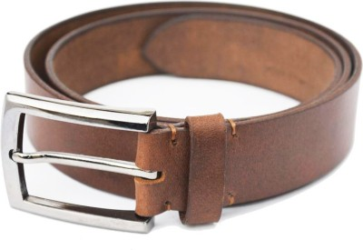 Crapgoos Men Casual Brown Genuine Leather Belt