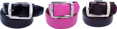 Contra Men Pink, Black, Brown Artificial Leather Belt
