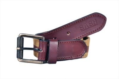 Sash Men Casual Beige, Brown Genuine Leather, Canvas Belt