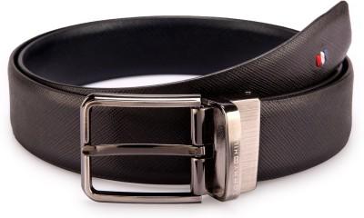 Tommy Hilfiger Men Formal Black, Blue Synthetic Reversible Belt