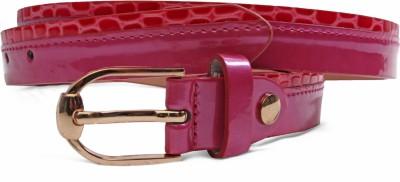 Just Women Women Casual Pink Artificial Leather Belt
