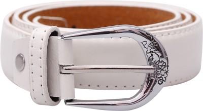 Stylehoops Boys, Men, Girls, Women White Artificial Leather Belt