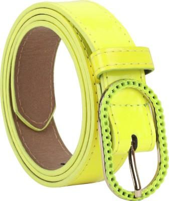 Freshka Women Casual Green Artificial Leather Belt