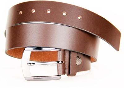 KRG ENTERPRISES Men, Boys Casual, Party, Formal Brown Genuine Leather Belt