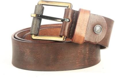 Just Differ Men Brown Genuine Leather Belt