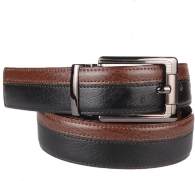 Lenin Men Casual Black Genuine Leather Belt
