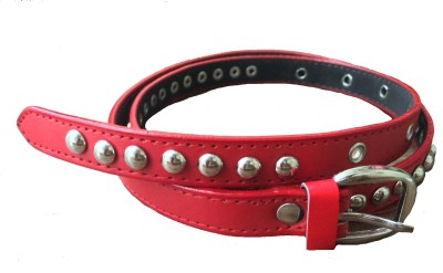 DEWY Women Casual Red Artificial Leather Belt