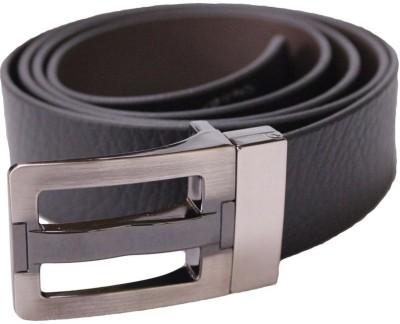 KRG ENTERPRISES Men, Boys Formal, Casual, Party Black Genuine Leather Reversible Belt