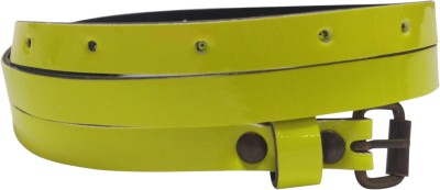 Miss Chase Women Casual Yellow Artificial Leather Belt
