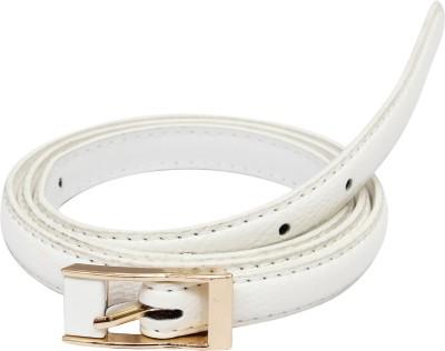 SRI Women Casual White Artificial Leather Belt