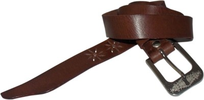 Honey Badger Women Casual Brown Genuine Leather Belt