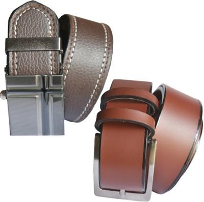 loopa Men Formal Multicolor Artificial Leather Belt