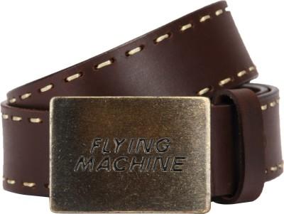 Flying Machine Men Black Genuine Leather Belt