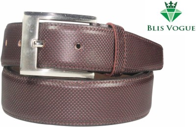 Blis Vogue Men, Men Formal, Evening, Party Brown Artificial Leather Belt