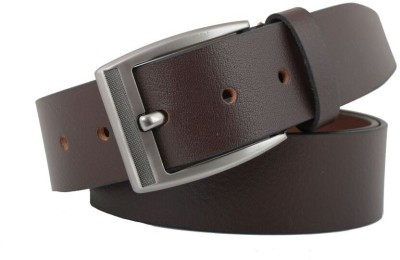 COBBLERS CRAFT Men Brown Genuine Leather Belt