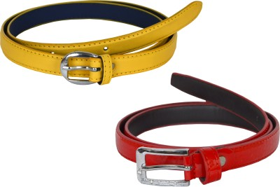 dazzler Girls Red, Yellow Artificial Leather Belt