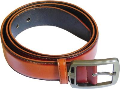 JTM Trading Men Casual, Formal Brown Artificial Leather Belt