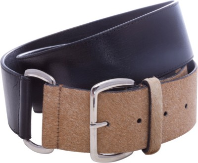 Stylogy Girls Casual Black Genuine Leather Belt