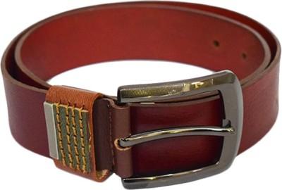 Zaira diamond Men Tan Genuine Leather Belt
