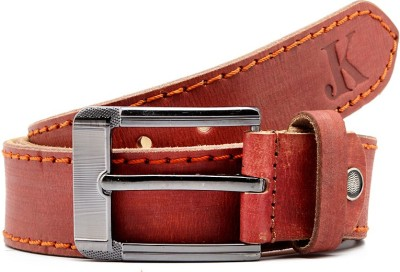 Junckers Men, Boys Casual, Party, Evening Maroon Genuine Leather Belt