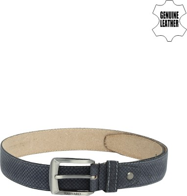 Harvard Men Blue Genuine Leather Belt