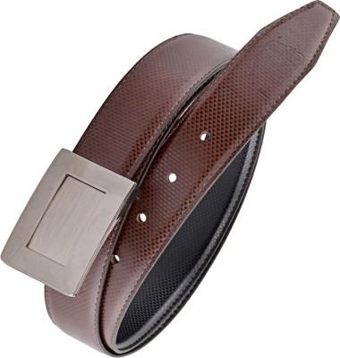 Rhino Men Brown, Black Artificial Leather Reversible Belt