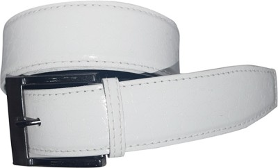 Aleron Men Casual White Artificial Leather Belt