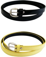 Verceys Girls Casual Black, Yellow Artificial Leather Belt