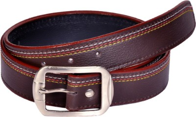 Swan Collection Boys, Men Formal, Casual, Evening Brown Artificial Leather Belt
