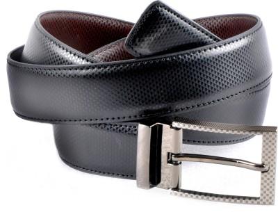 Encanto Men Formal Black Artificial Leather Reversible Belt