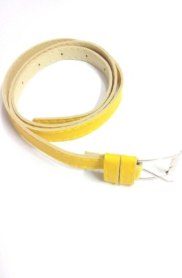 Indian Swan Girls, Women Party Yellow Artificial Leather Belt
