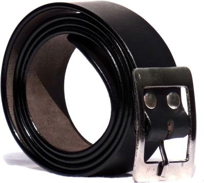 Chaklu Paklu Men Black Genuine Leather Belt